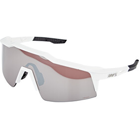 100% Speedcraft Lunettes Small, matte white hiper silver/HD multilayer mirror